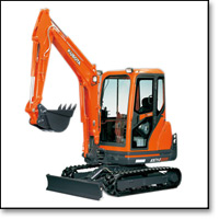 Mini-Diggers at Gallinagh's Letterkenny Tool Hire and Sales